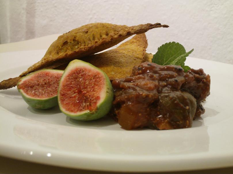 Indian Spiced Cabbage Samosas wih Fig Chutney