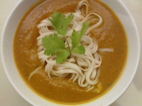 Thai Pumpkin and Chilli Noodle Soup | Cook Eat Live Vegetarian