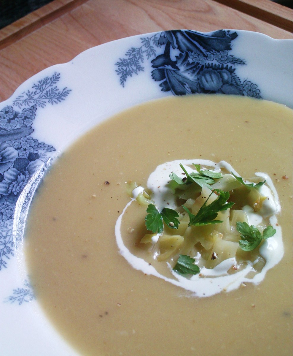 Rainy Day Cabbage, Potato and Leek Soup