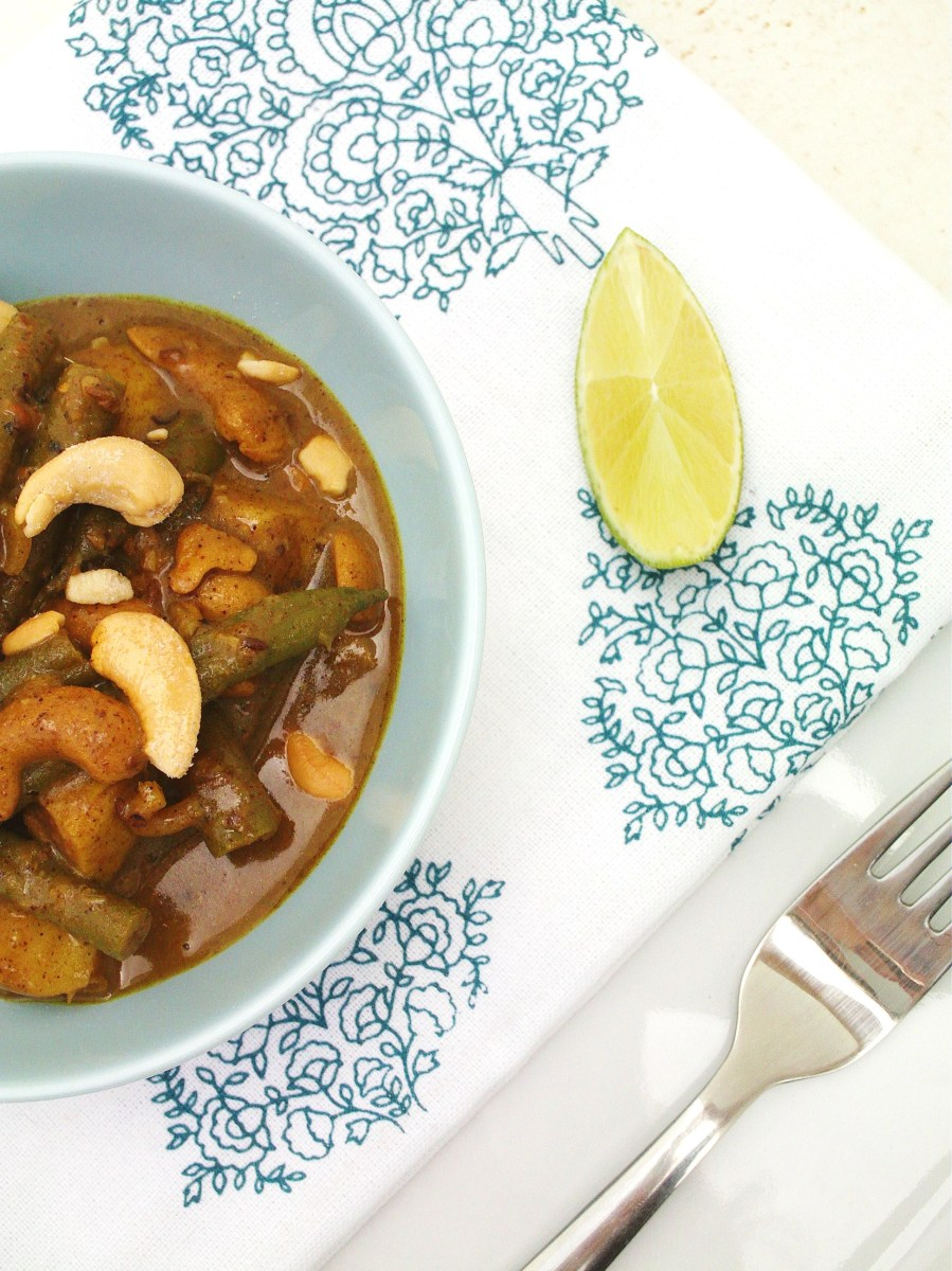 Sri Lankan Green Bean, Potato and Cashew Nut Curry