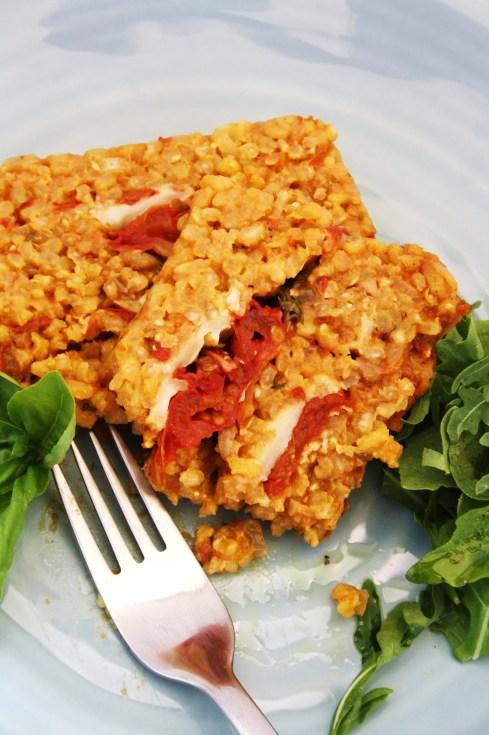 Roasted Tomato, Saffron and Mozzarella Risotto Layer Cake ...