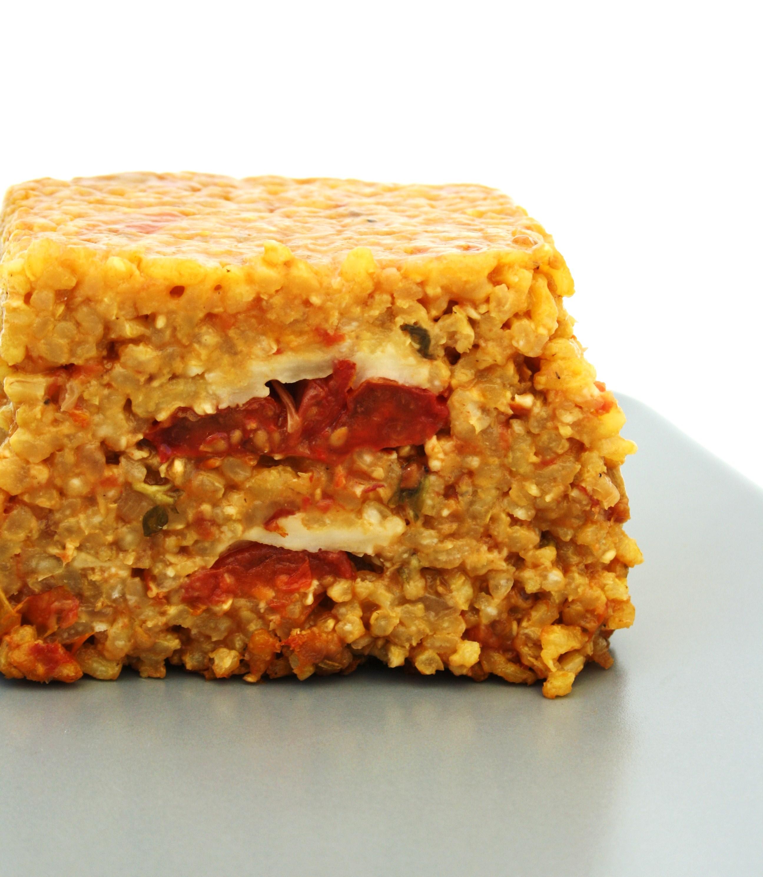 Cake Courgette Aubergine Mozzarella