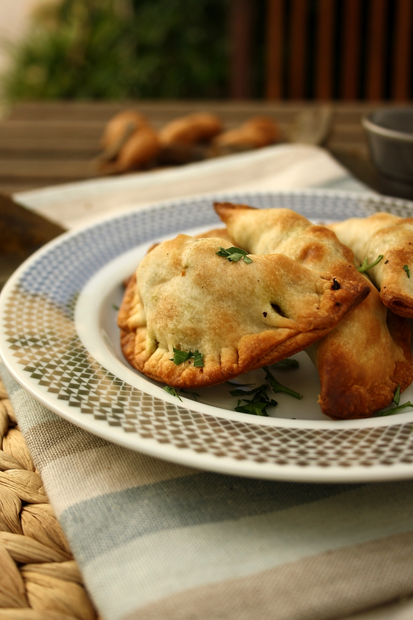 Spinach, Raisin & Almond Empanadas