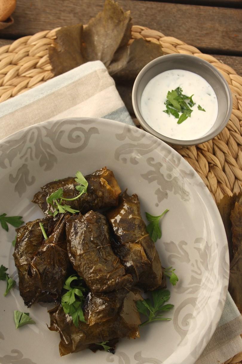 Vine Leaves & Greek Yoghurt Dip