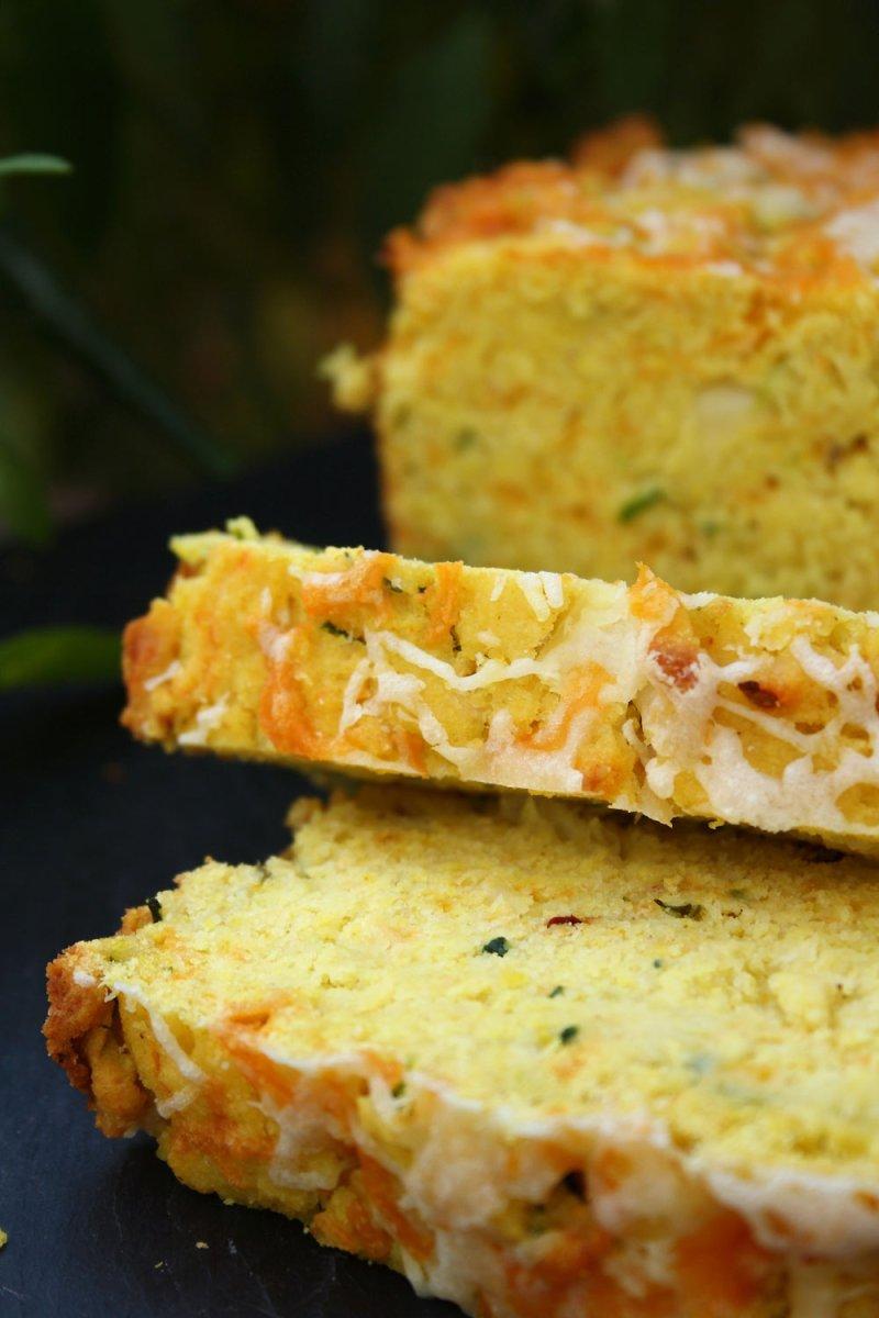 Zucchini Green Chilli Cornbread