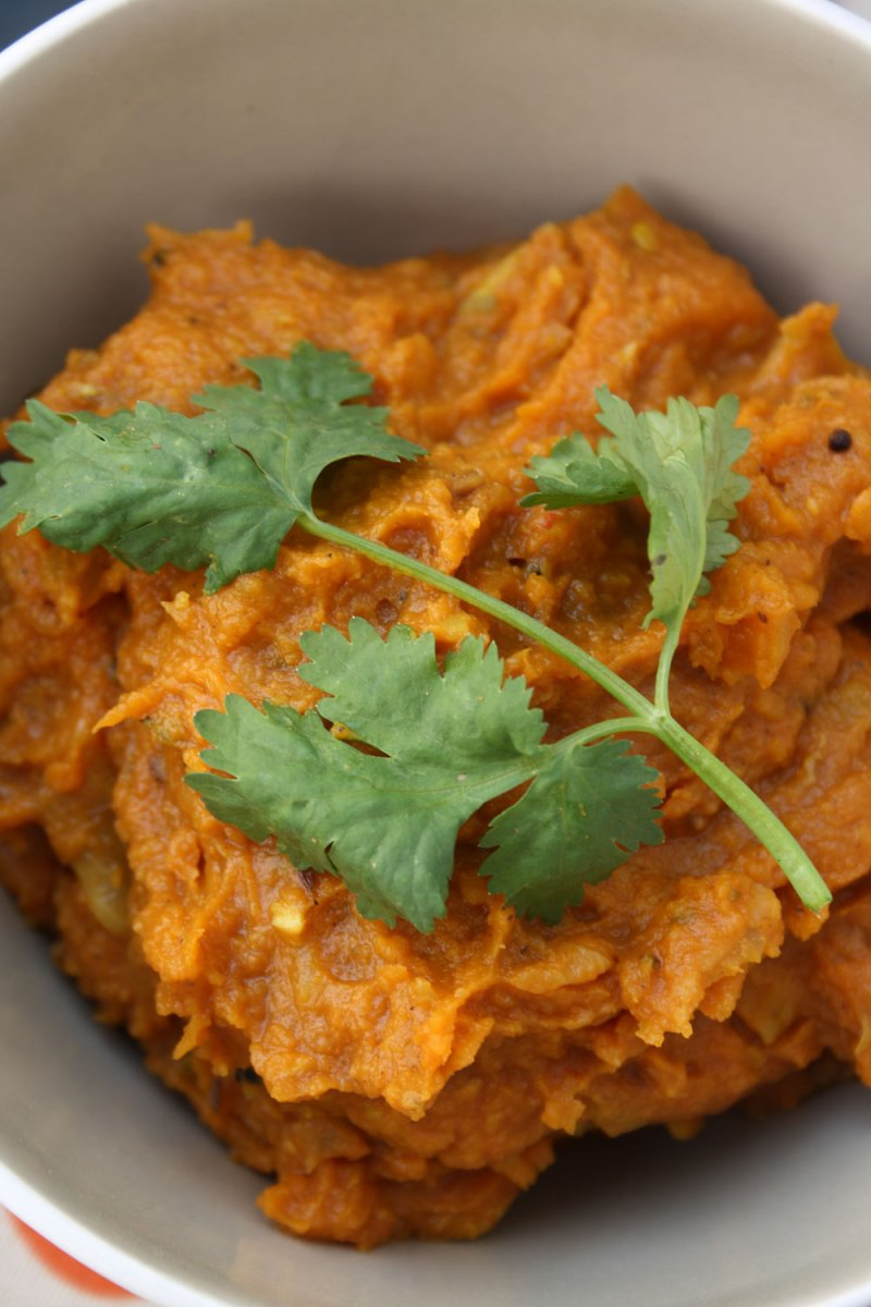 Indian Spiced Smashed Pumpkin
