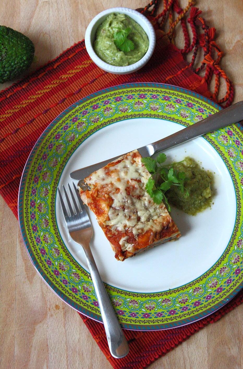 Mexican Tortilla Lasagne | Cook Eat Live Vegetarian