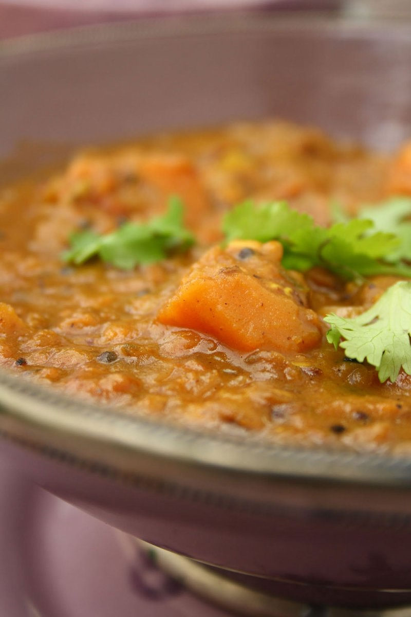 Sweet Potato and Lentil Dhal