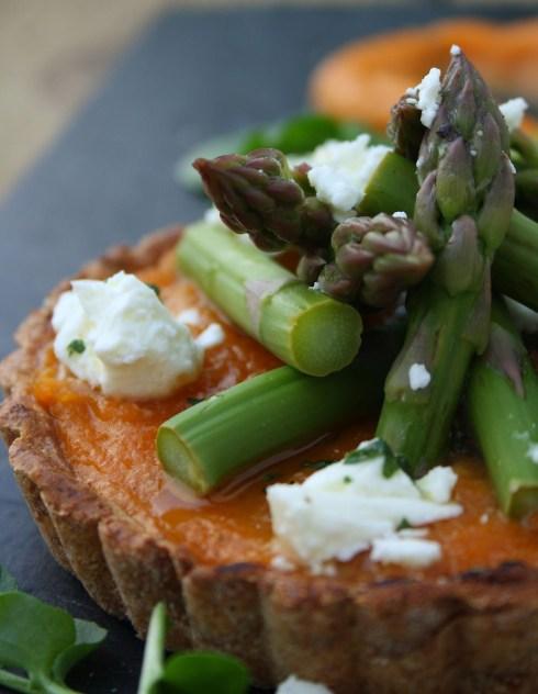 Sweet Potato Asparagus Tart