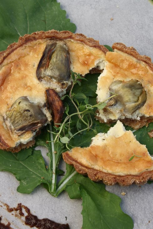 Roasted Artichoke Tart