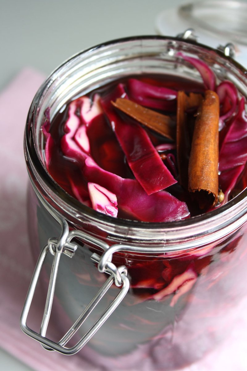 Grandad's Pickled Red Cabbage
