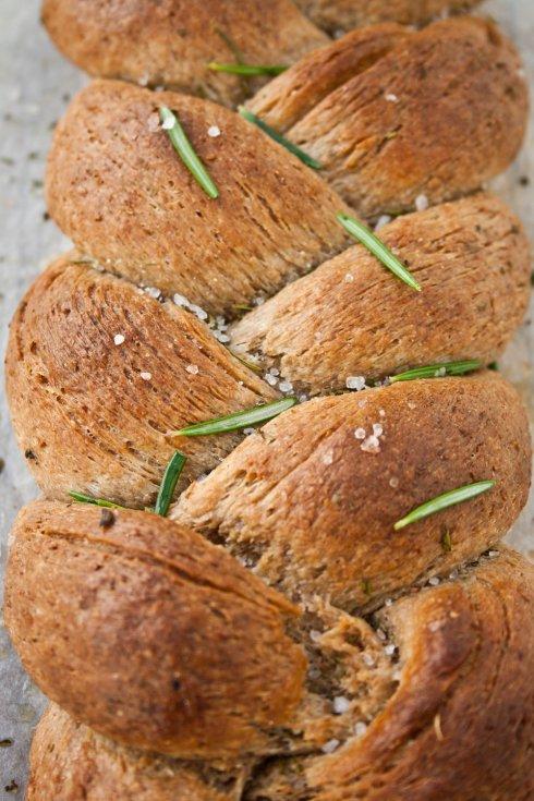 Garlic & Rosemary Braided Loaf