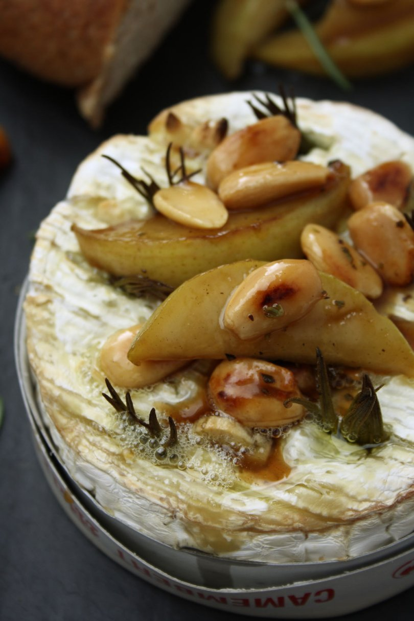 Baked Camembert & Honey Glazed Pears