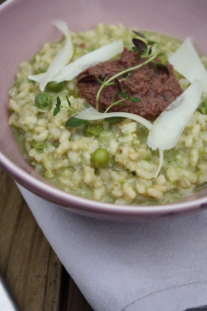 Summer Pea Risotto