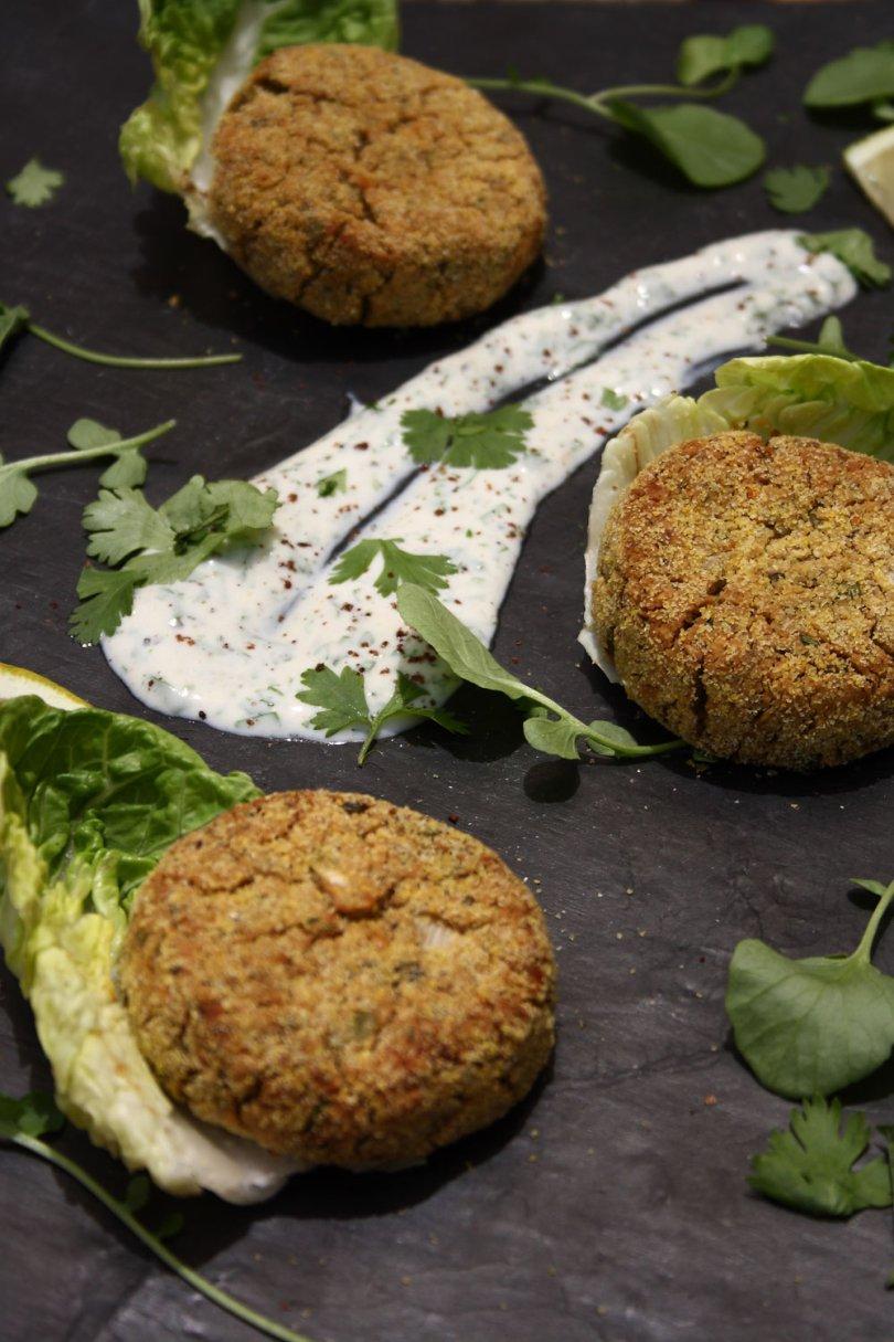 Baked Falafel Cakes | Cook Eat Live Vegetarian