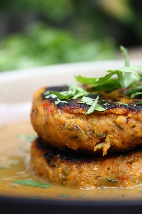 Caribbean Sweet Potato Patties with Spicy Coconut and Spinach Sauce ...