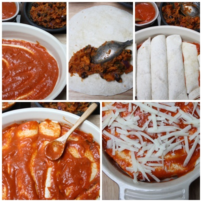 Step by Step Enchiladas