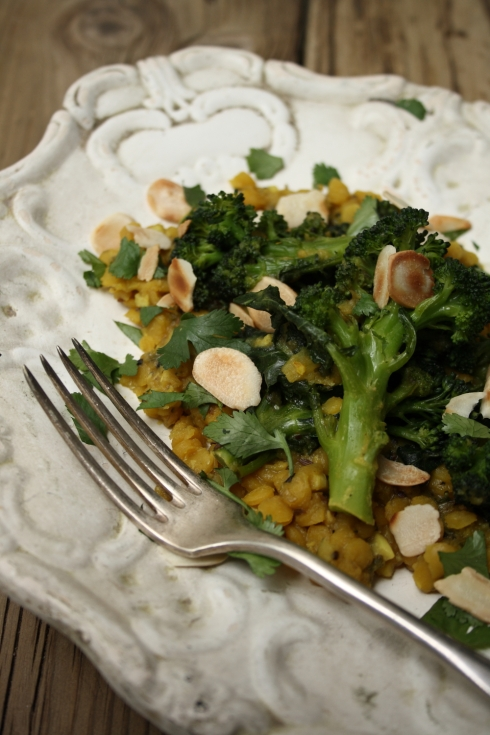 Indian Broccoli & Yellow Lentils