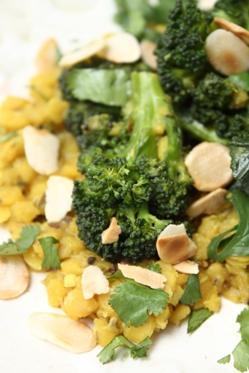 Indian Broccoli & Lentils with Almonds