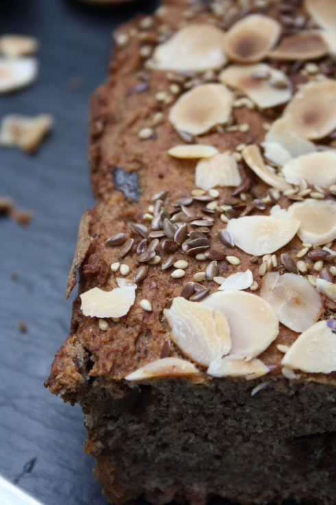 Vegan Banana Date & Almond Bread
