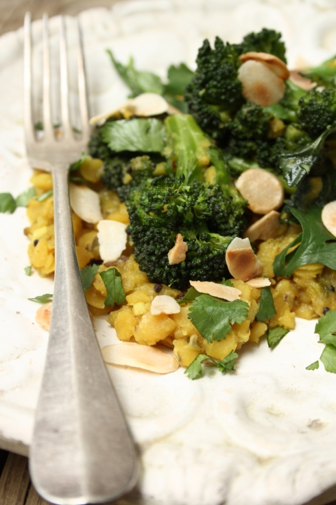 Indian Broccoli with Lentils