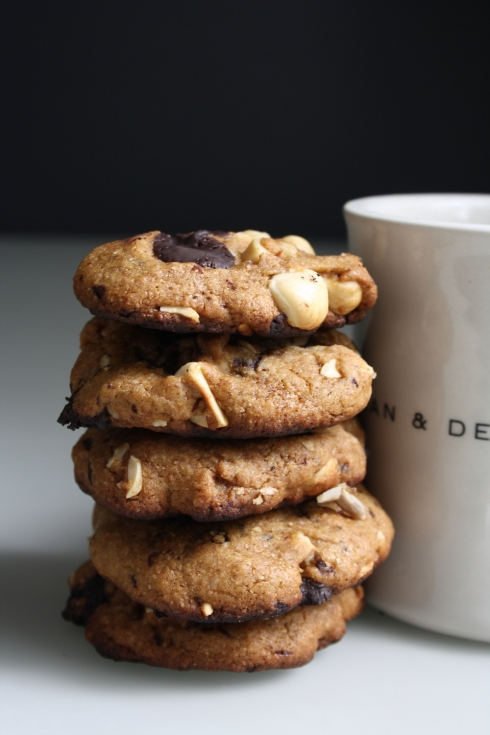 Wholemeal Chocolate Chunk & Hazelnut Cookies