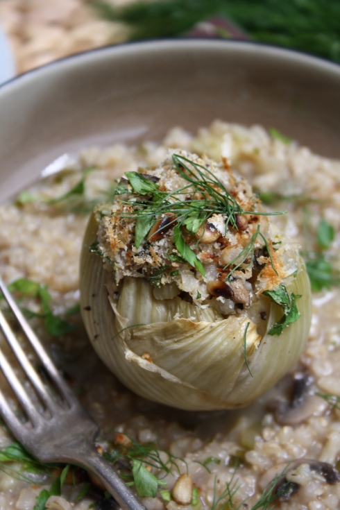 Risotto Stuffed Fennel