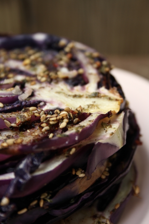 Za'atar Roasted Red Cabbage Steaks
