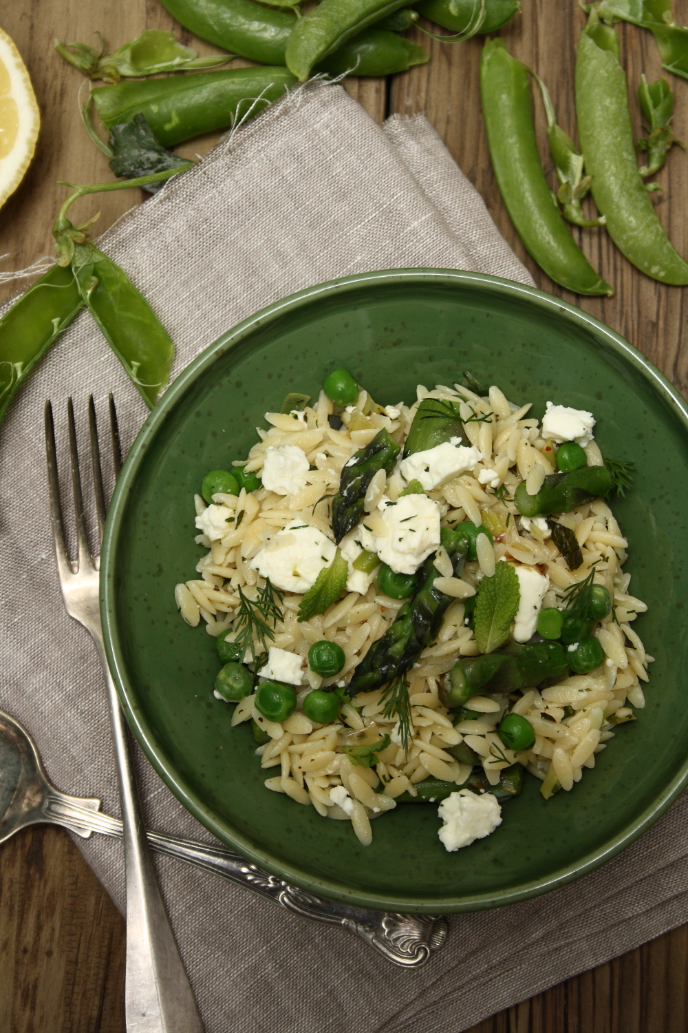 Primavera Orzo Salad with Fresh Peas, Asparagus, Mint and Feta | Cook ...
