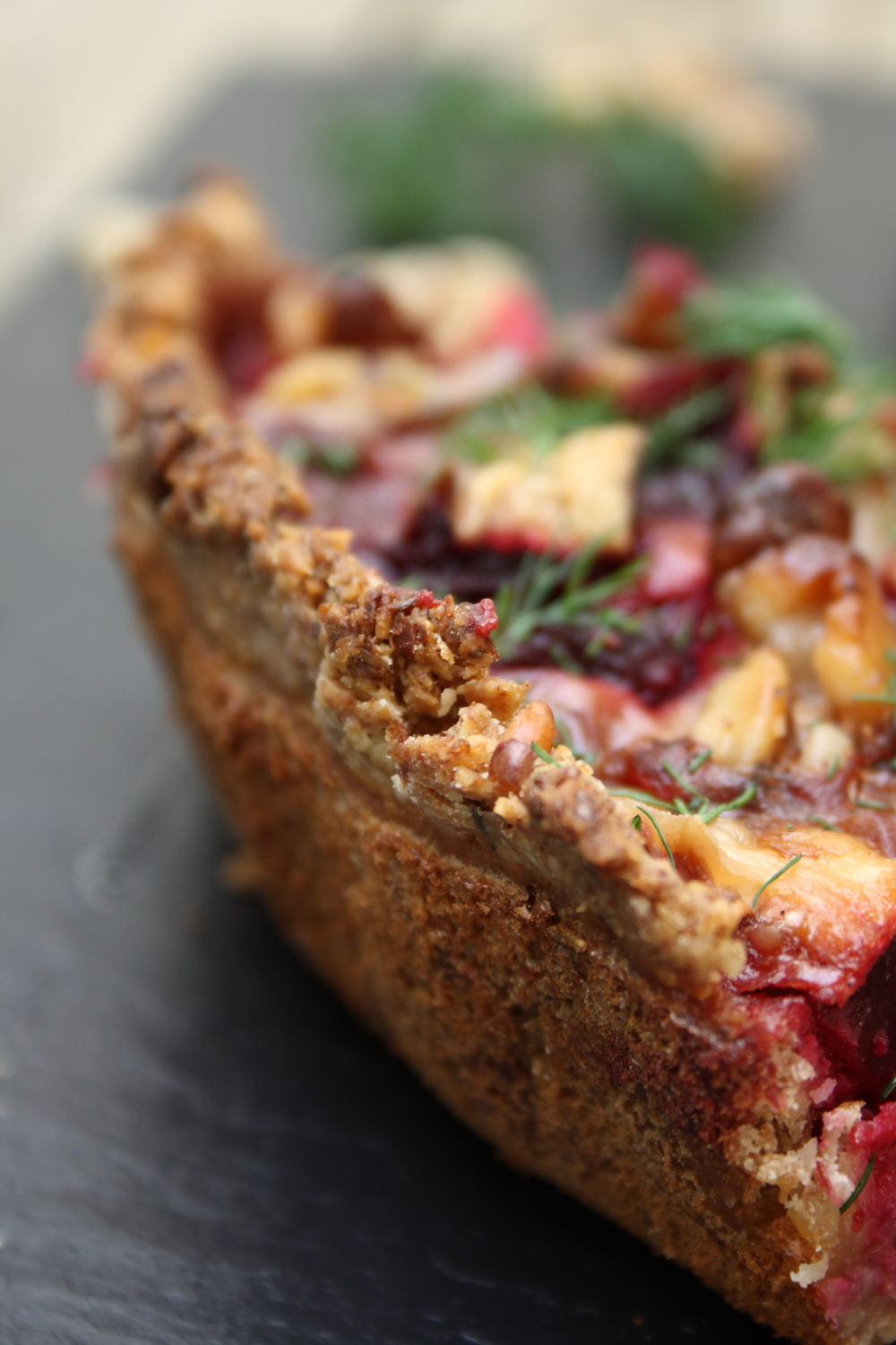 Goat Cheese, Roasted Beet, And Walnut Tart Recipe — Dishmaps
