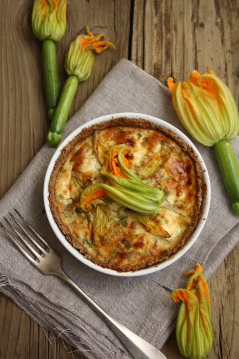 Courgette Flower Quiche