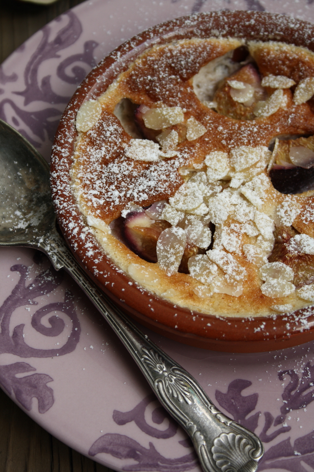 Fresh Fig and Amaretto Clafoutis