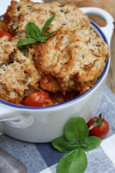 Savoury Tomato & Basil Cobbler